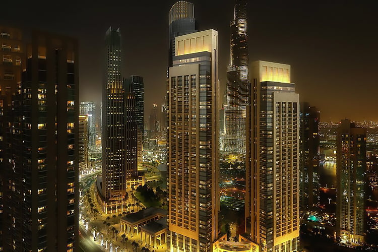 ACT 1 Downtown Dubai Emaar 1 - Projects Map
