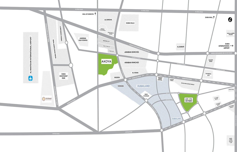 location map - Manarola Akoya Oxygen Location Map