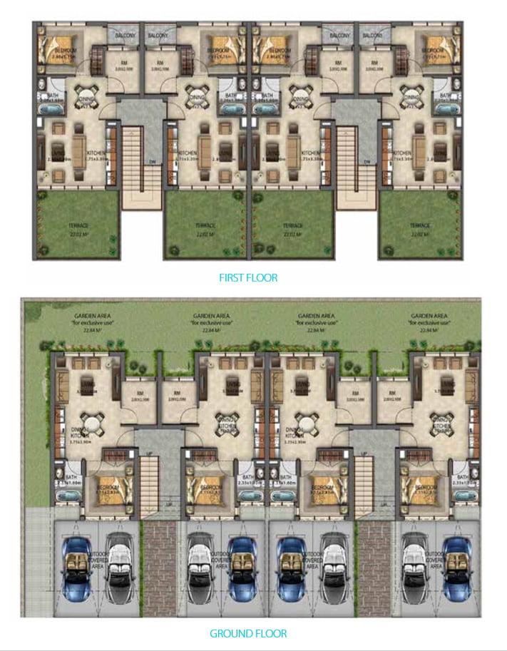 Floor plan - AKOYA MOD Townhouses Floor Plan