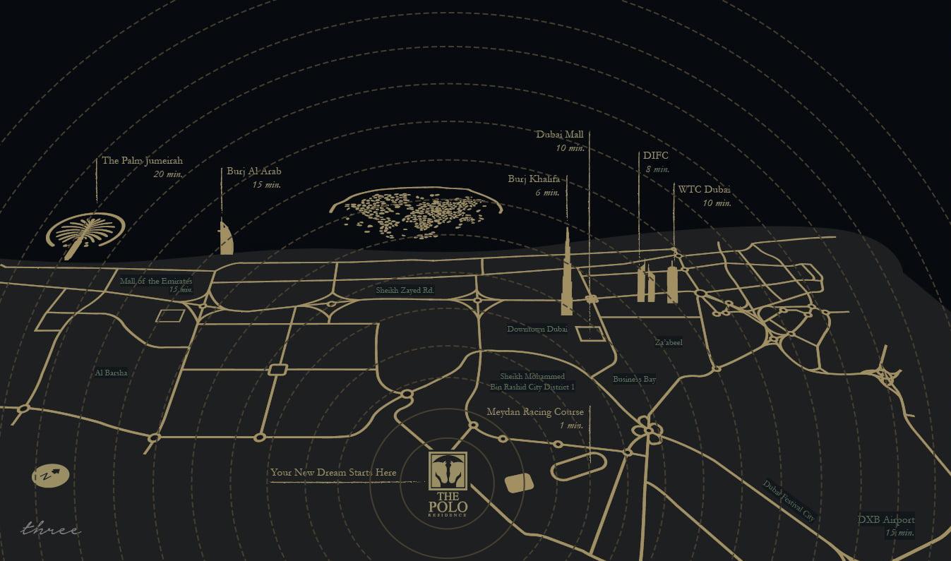Polo Residence location - Polo Residence Location Map
