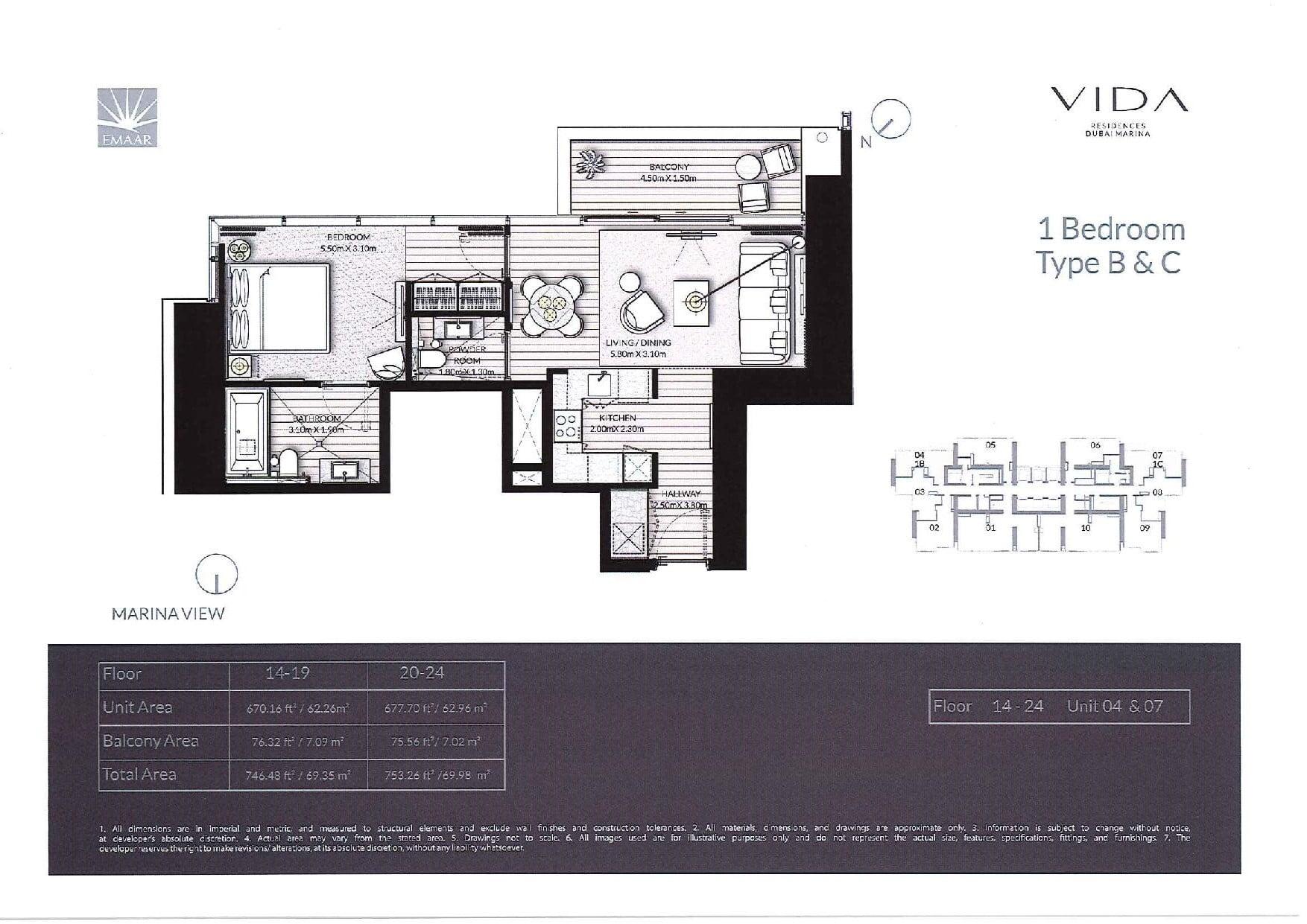 Vida Residences Floor Plans page 004 - Floor Plans - Vida Residences Dubai Marina