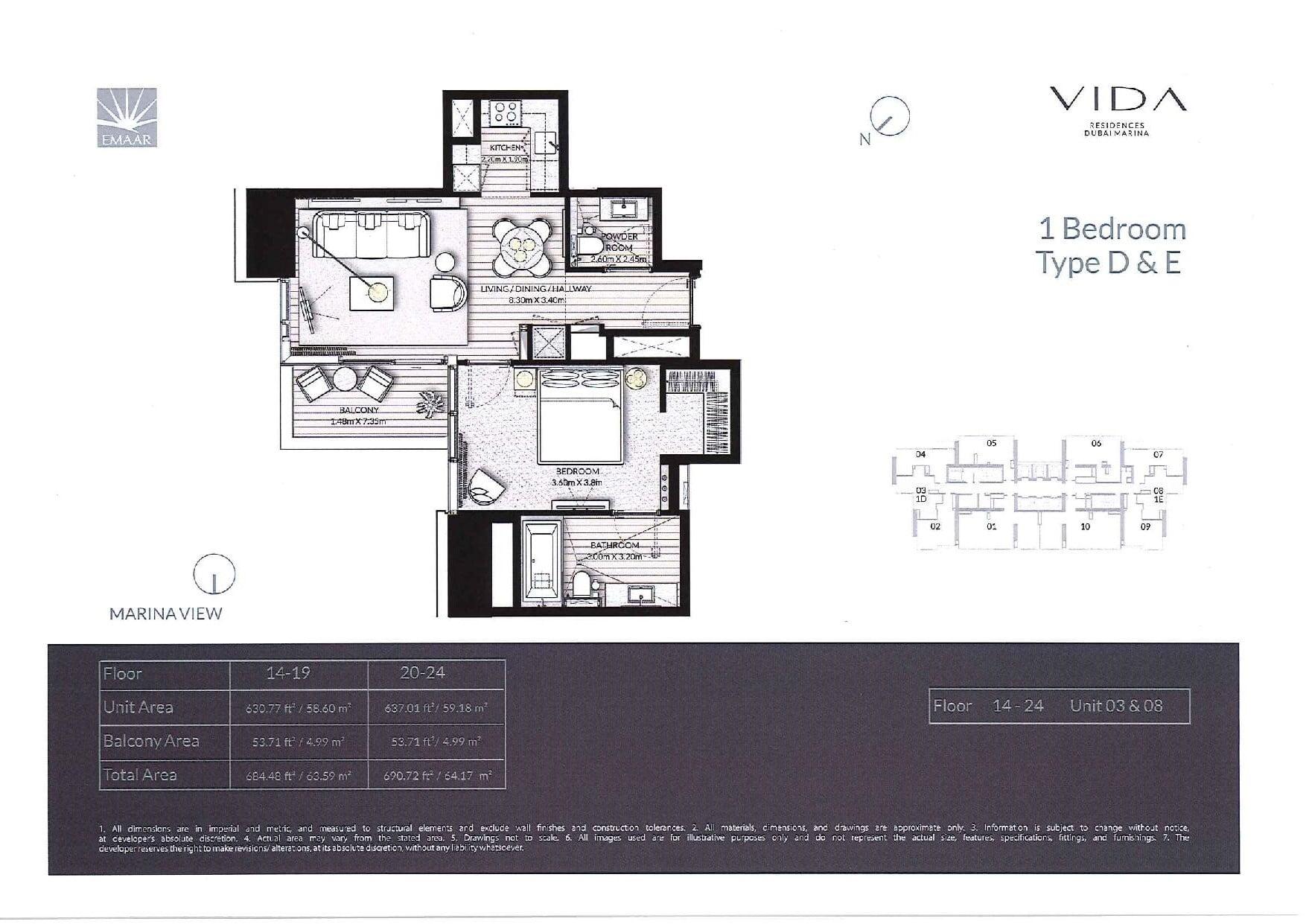 Polo Towers Floor Plan Floor Plans Vida Residences Dubai Marina Dubai Off
