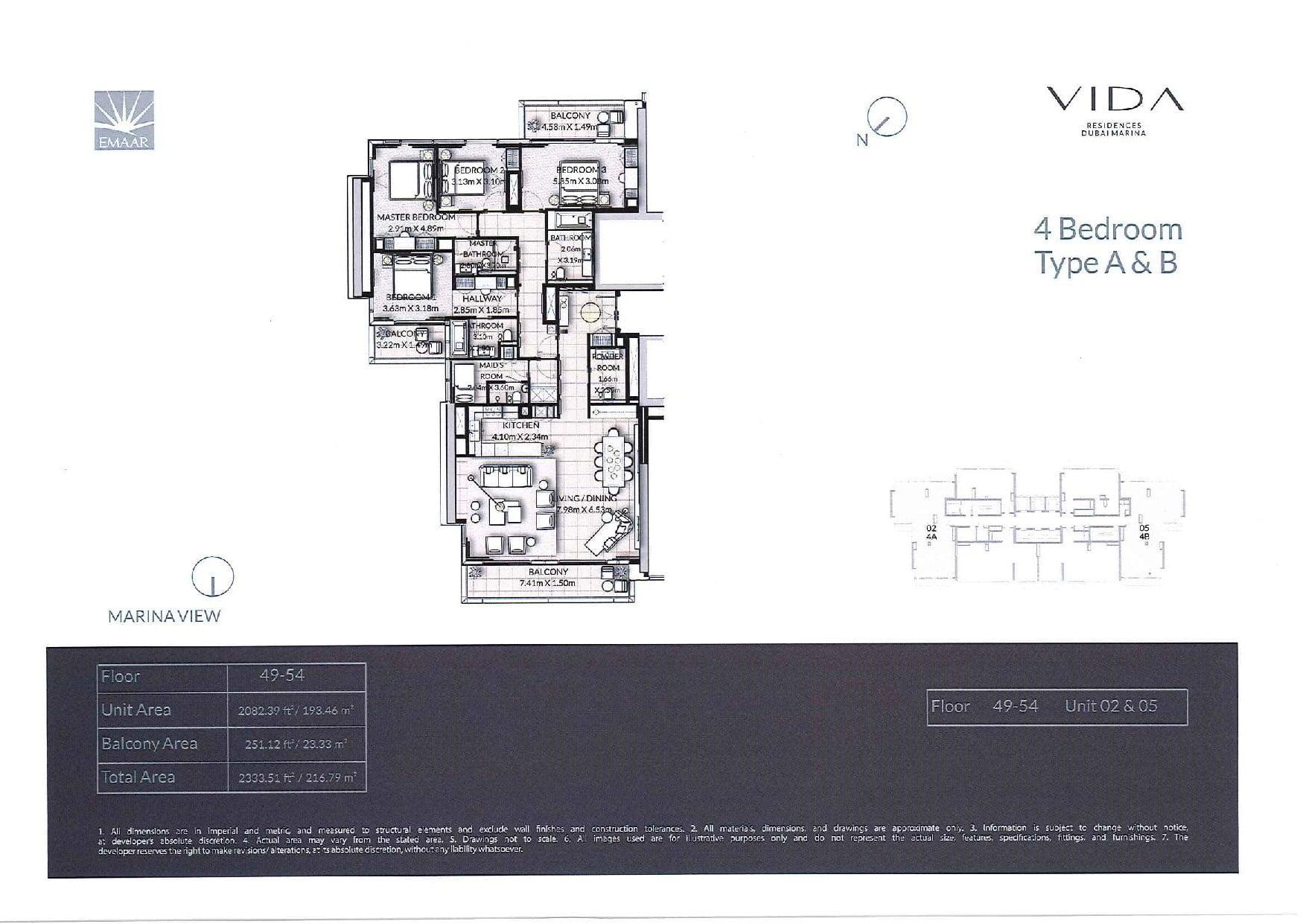 Vida Residences Floor Plans page 024 - Floor Plans - Vida Residences Dubai Marina