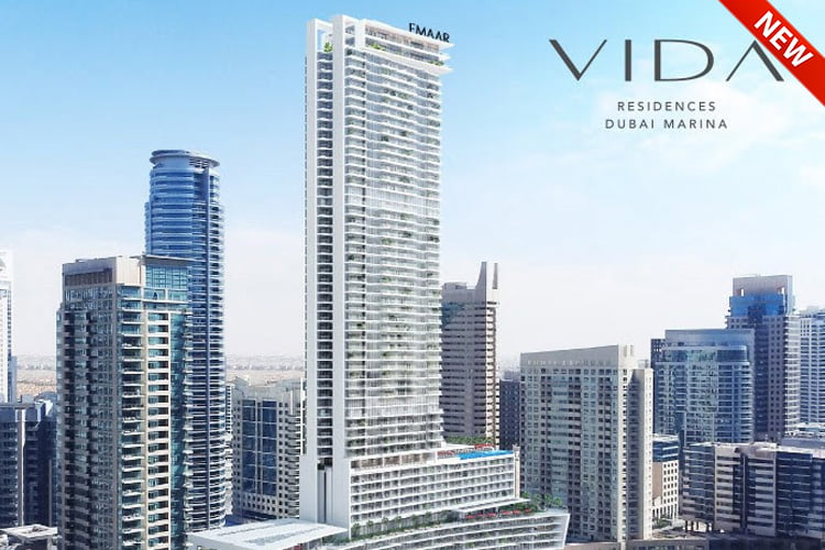 vida residences Dubai Marina 1 - Projects Map