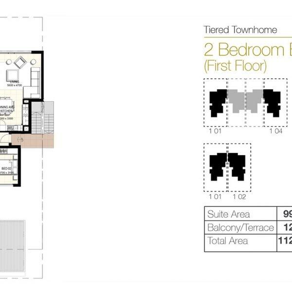 f3 600x600 - Urbana III - Floor Plans