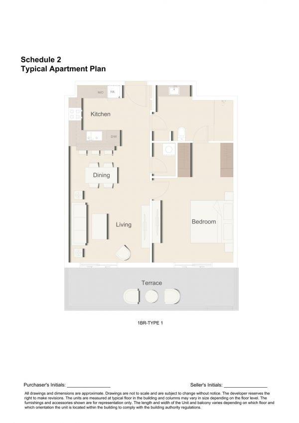 1BR TYPE 1 1 600x850 - Floor Plans - Eaton Place By Ellington