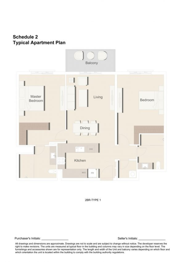 2BR TYPE 1 1 600x850 - Floor Plans - Eaton Place By Ellington