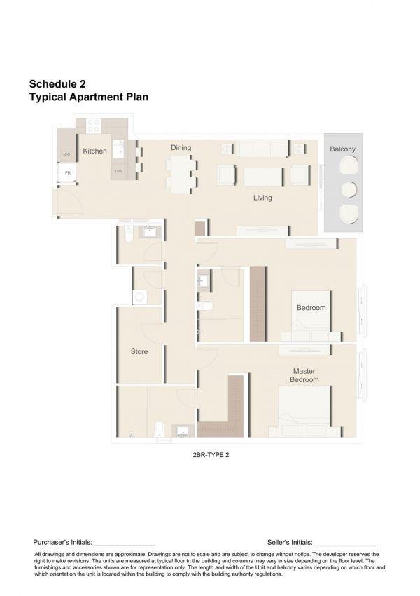 2BR TYPE 2 1 600x850 - Floor Plans - Eaton Place By Ellington