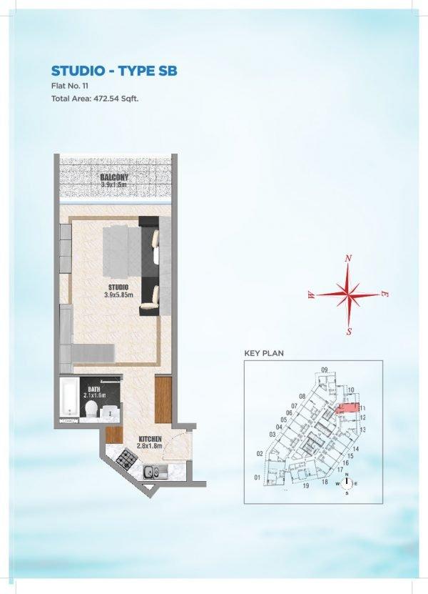 Bayz by Danube 34 600x831 - Floor Plans - Bayz By Danube