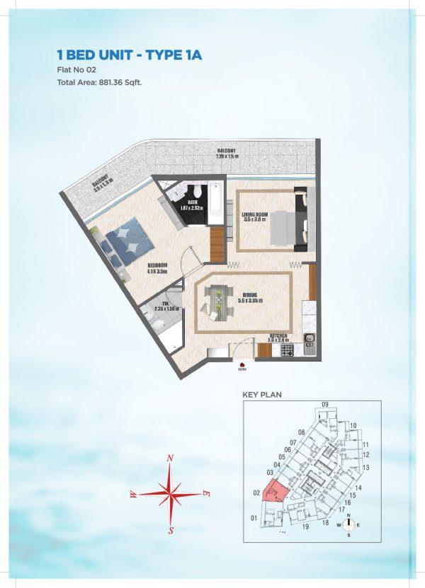 Bayz by Danube 35 600x831 - Floor Plans - Bayz By Danube