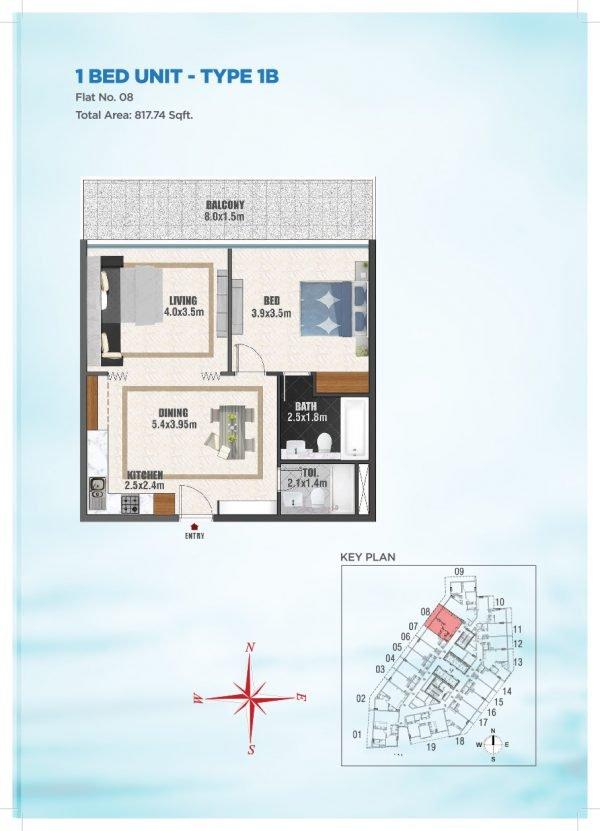 Bayz by Danube 36 600x831 - Floor Plans - Bayz By Danube