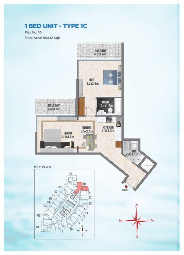 Bayz by Danube 37 600x831 - Floor Plans - Bayz By Danube