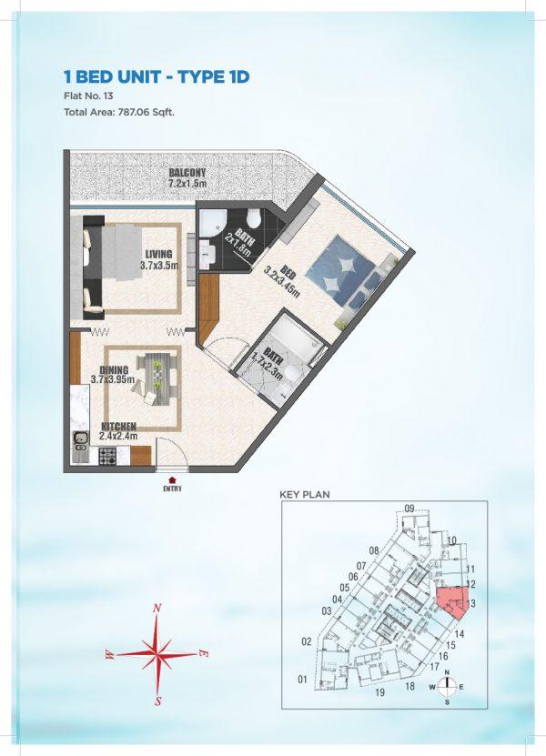Bayz by Danube 38 600x831 - Floor Plans - Bayz By Danube