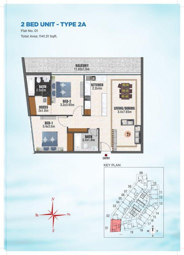 Bayz by Danube 40 600x831 - Floor Plans - Bayz By Danube