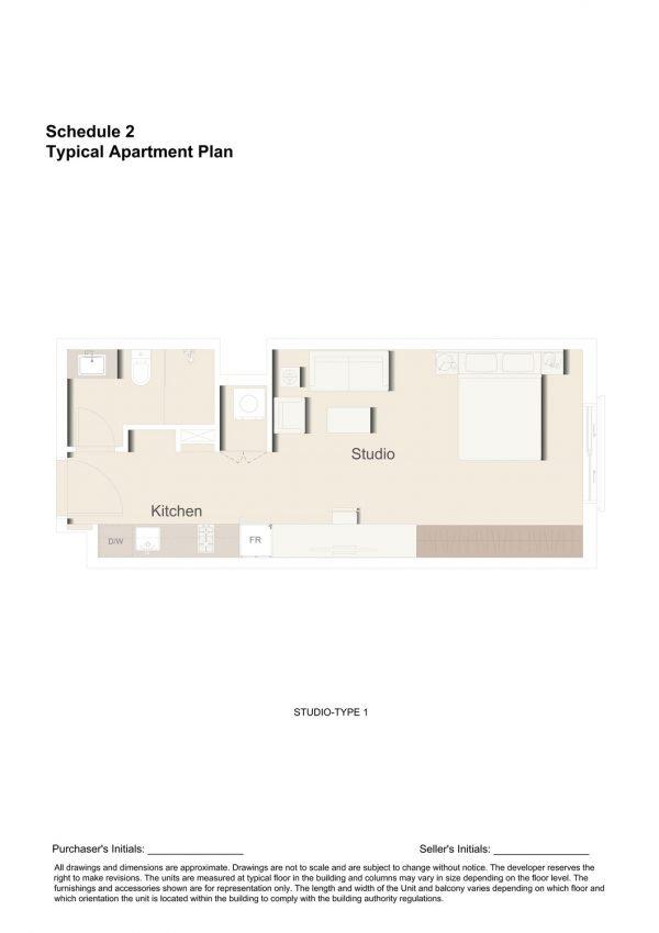 STUDIO TYPE 1 1 600x850 - Floor Plans - Eaton Place By Ellington