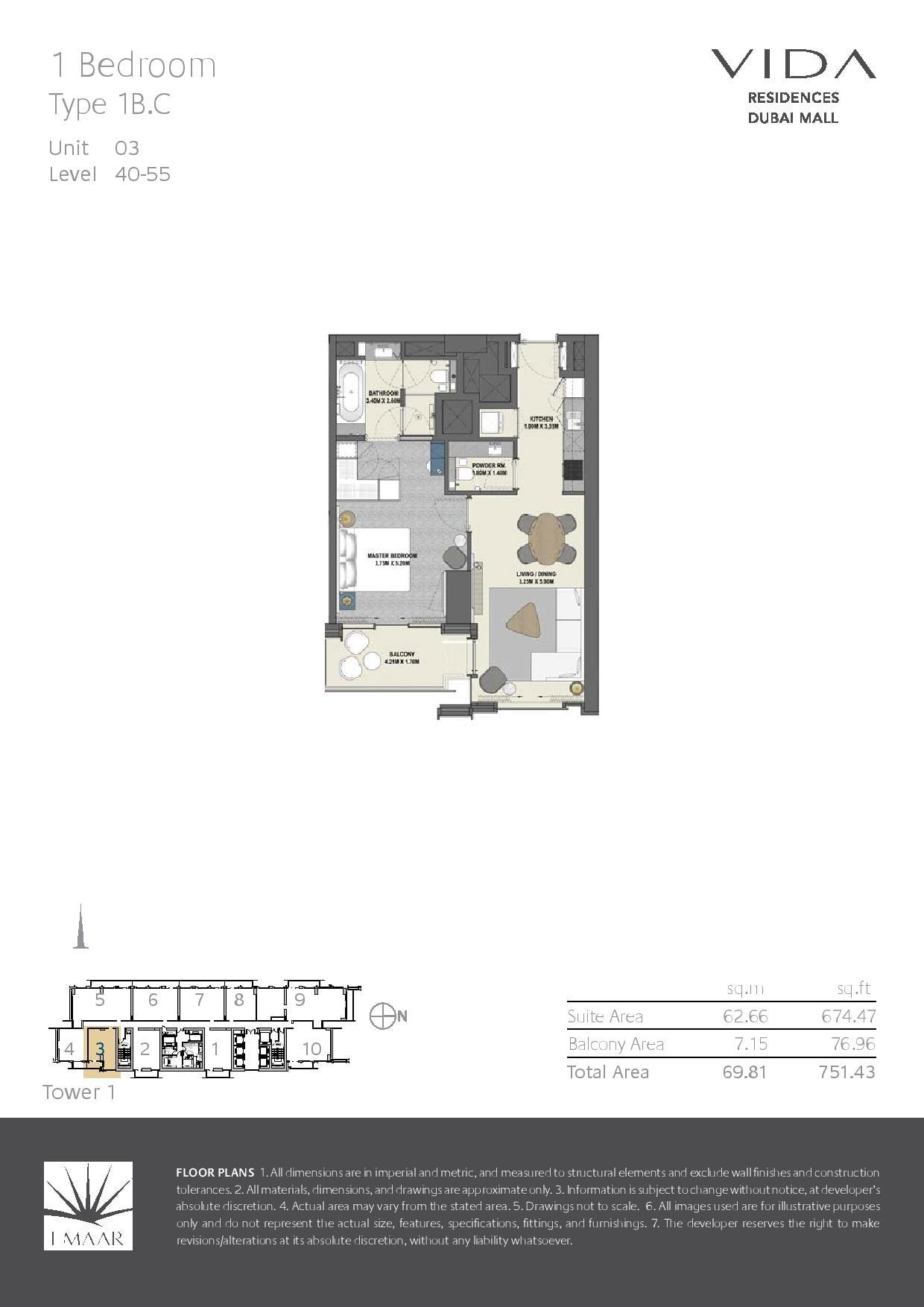 Floor Plans Vida Residences Dubai Mall Dubai Off Plan