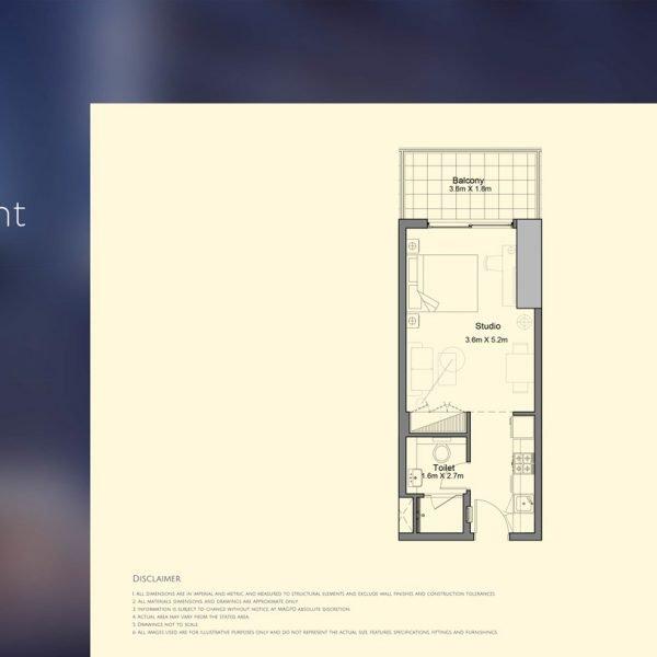 floor plan mag 318 1 600x600 - MAG 318 in Downtown Dubai Floor Plans