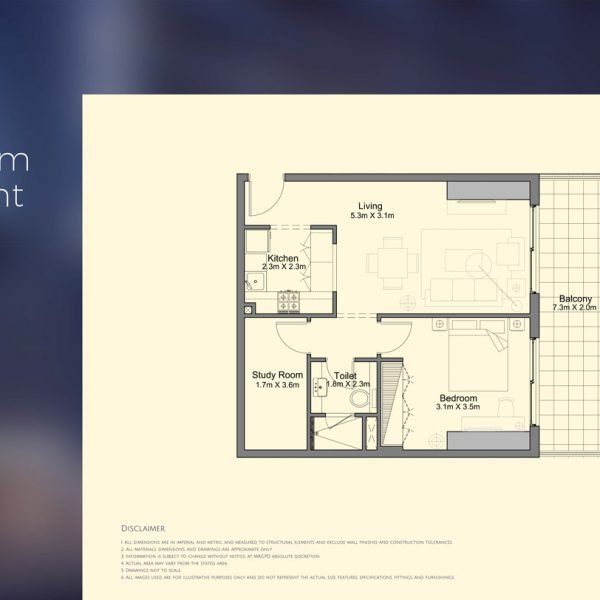 floor plan mag 318 2 600x600 - MAG 318 in Downtown Dubai Floor Plans