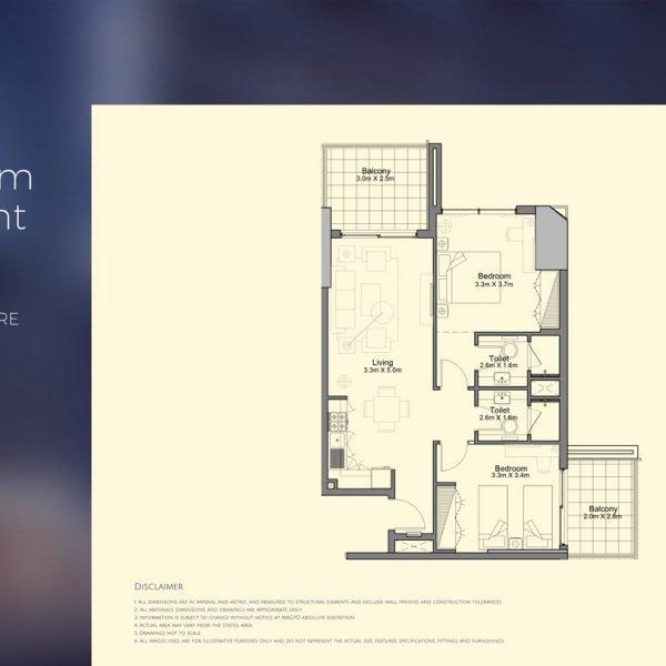 floor plan mag 318 3 600x600 - MAG 318 in Downtown Dubai Floor Plans