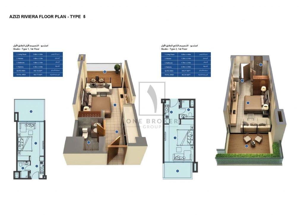 Maydan Brochure Floor Plans 05 page 001 1024x724 - Azizi Riviera - Floor Plans