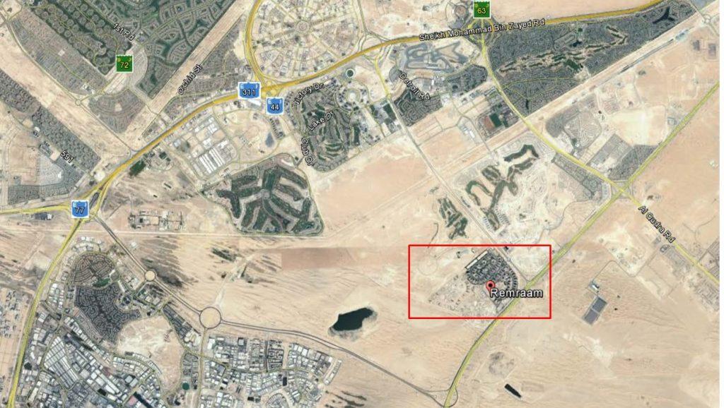 Remraam locationmap 1024x578 - Remraam Dubailand - Location Map