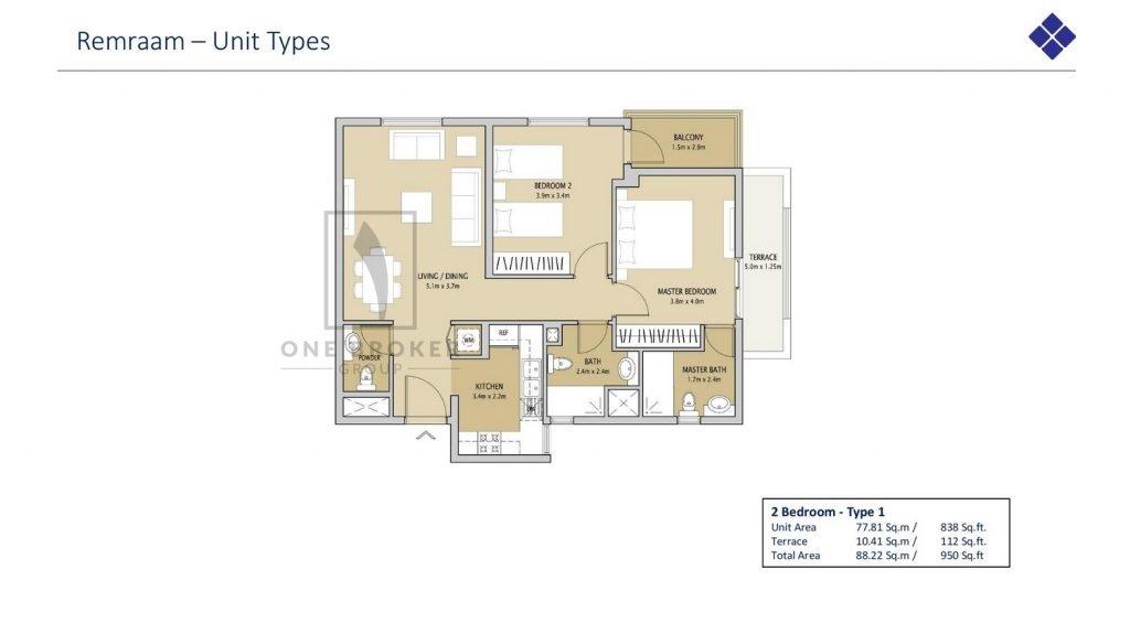 Remraam page 019 1024x575 - Remraam Dubailand - Floor Plans