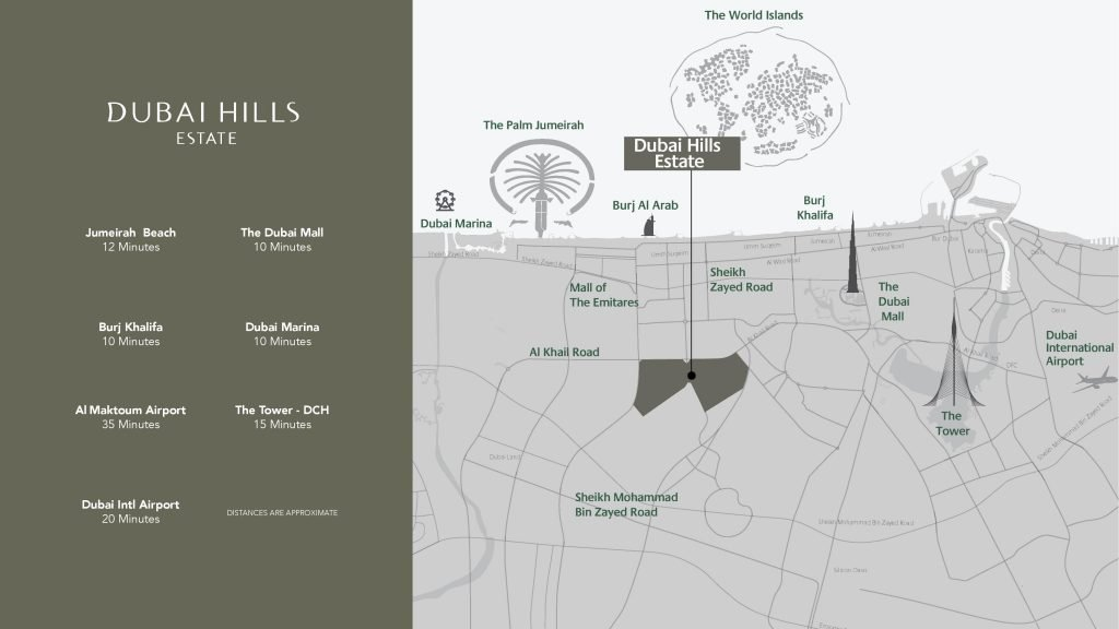 location map sidra 3 1024x576 - Sidra 3 at Dubai Hills Estate By Emaar