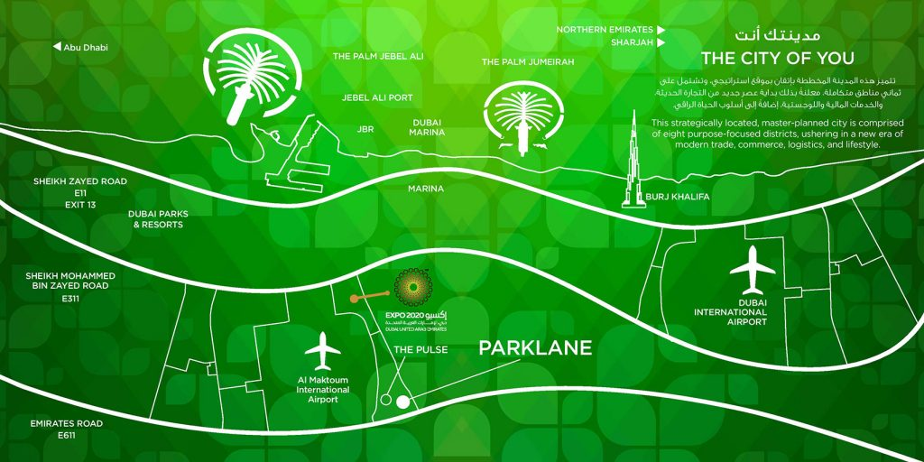 Parklane Location Map