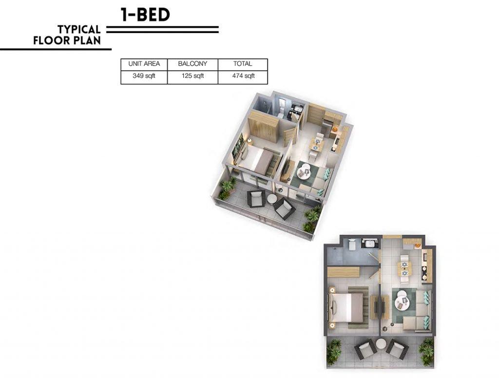 1BR 1024x776 - Věra Residences - Floor Plans