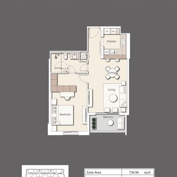 1BR Type2 600x600 - Wilton Terraces 1 - Floor Plans