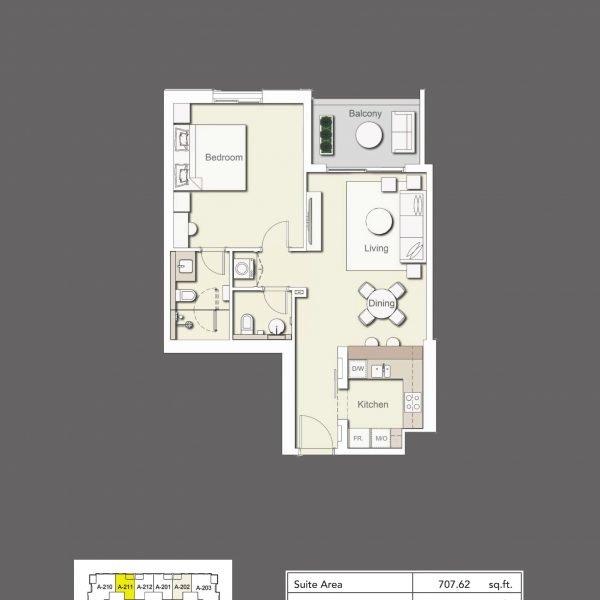 1BR Type3 600x600 - Wilton Terraces 1 - Floor Plans