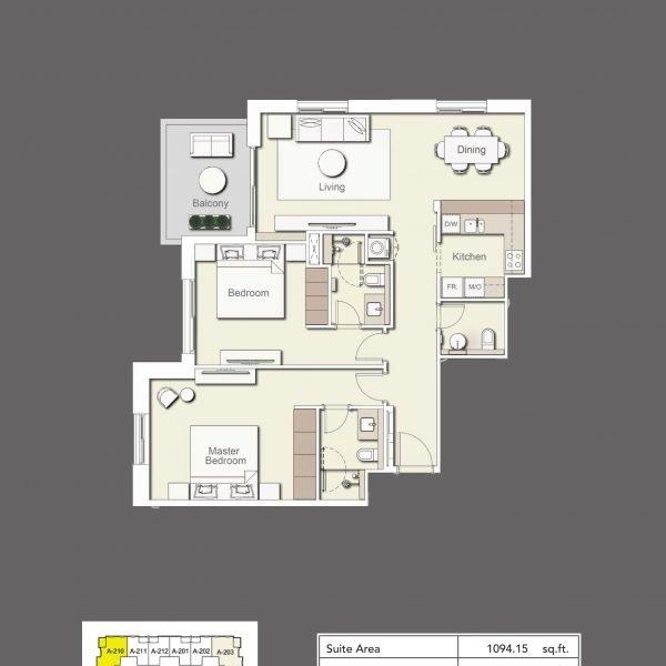 2BR Type3 600x600 - Wilton Terraces 1 - Floor Plans