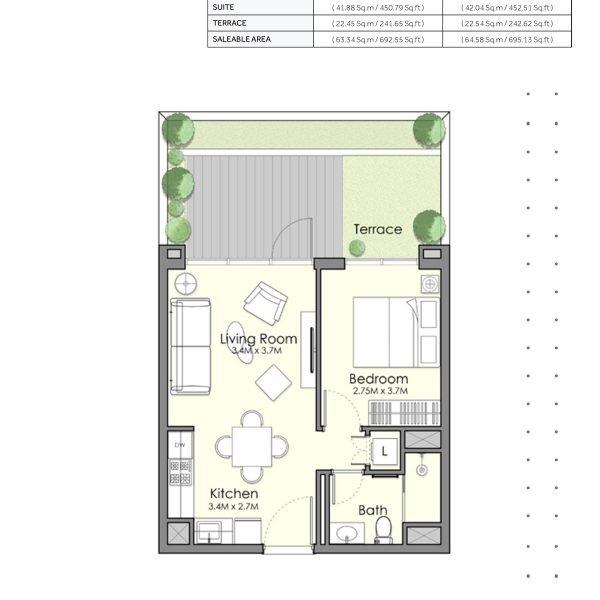 UNA Town Square page 1 BR 4 600x600 - UNA Town Square - Floor Plans