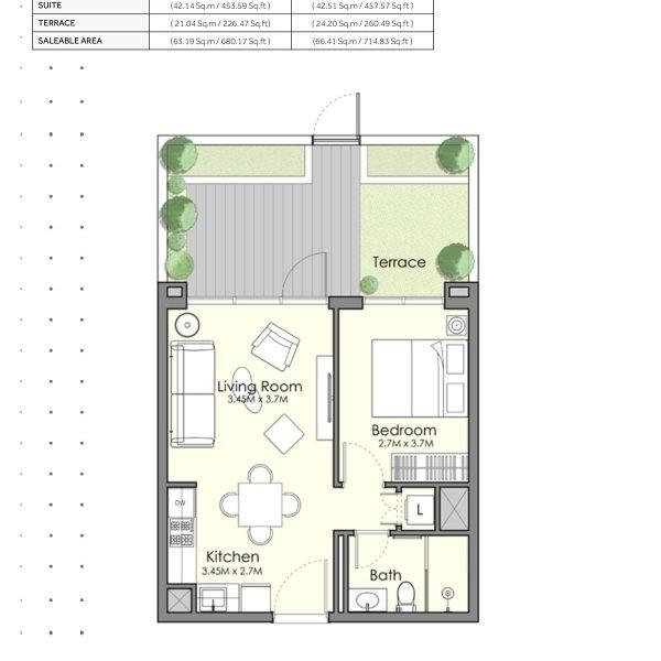 UNA Town Square page 1 BR 5 600x600 - UNA Town Square - Floor Plans
