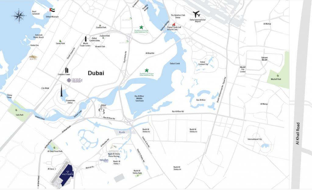 Azizi Victoria location map