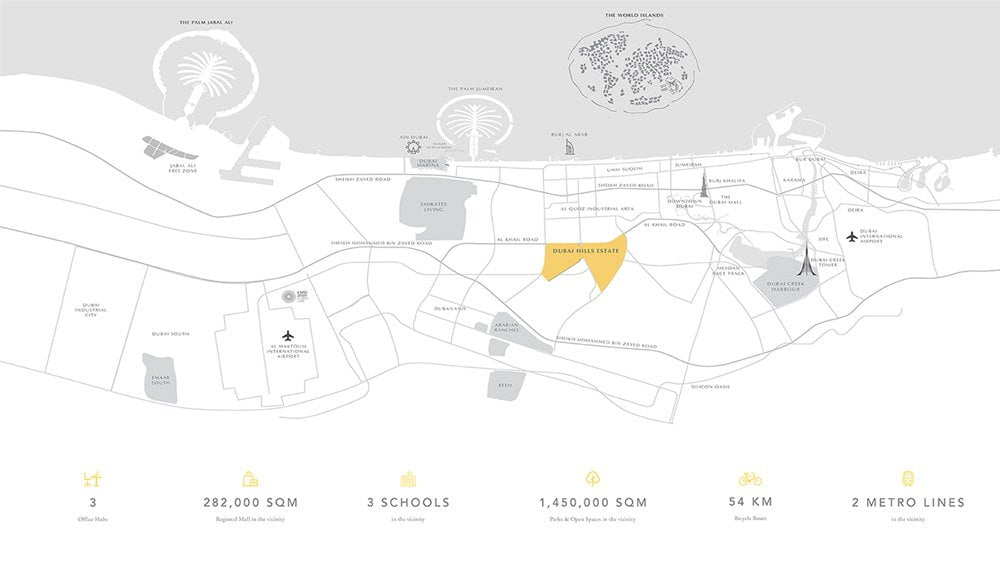 Collective location map - Collective at Dubai Hills Estate