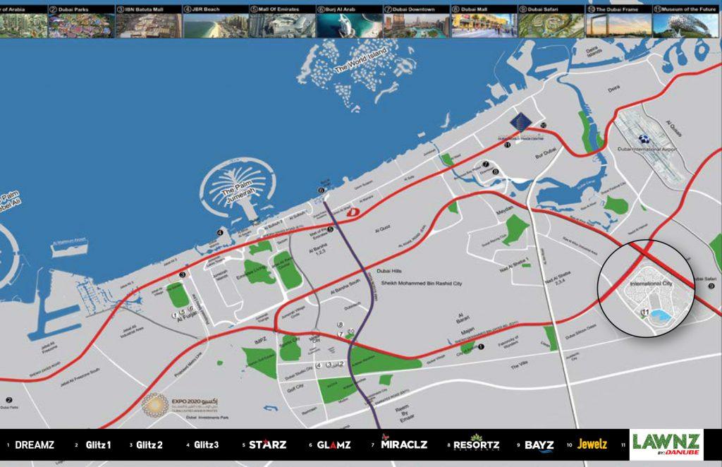 Lawnz location map 1024x662 - Lawnz by Danube - Location Map