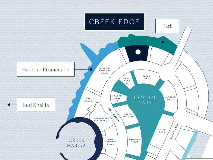 creek edge location - Creek Edge by Emaar in Dubai Creek Harbour