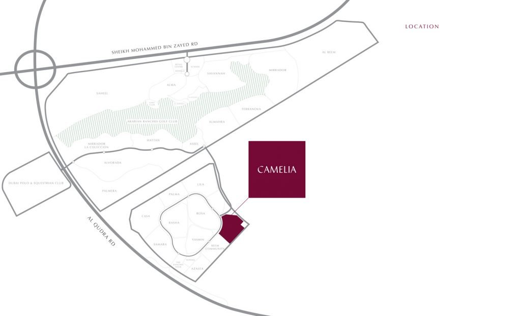 Camelia location map 1024x622 - Camelia at Arabian Ranches II by Emaar