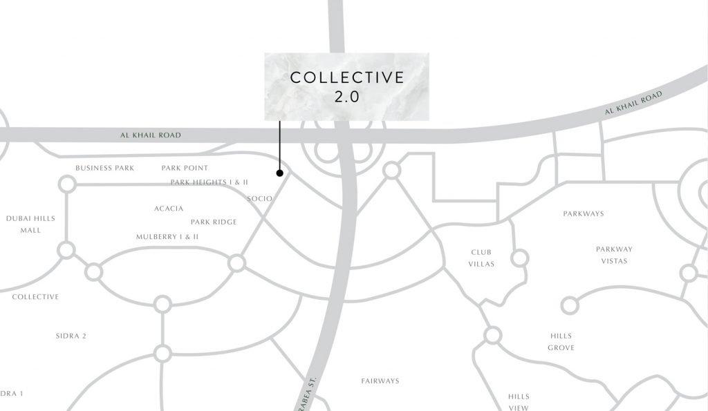 Collective Location Map 1024x595 - COLLECTIVE 2.0 at Dubai Hills Estate
