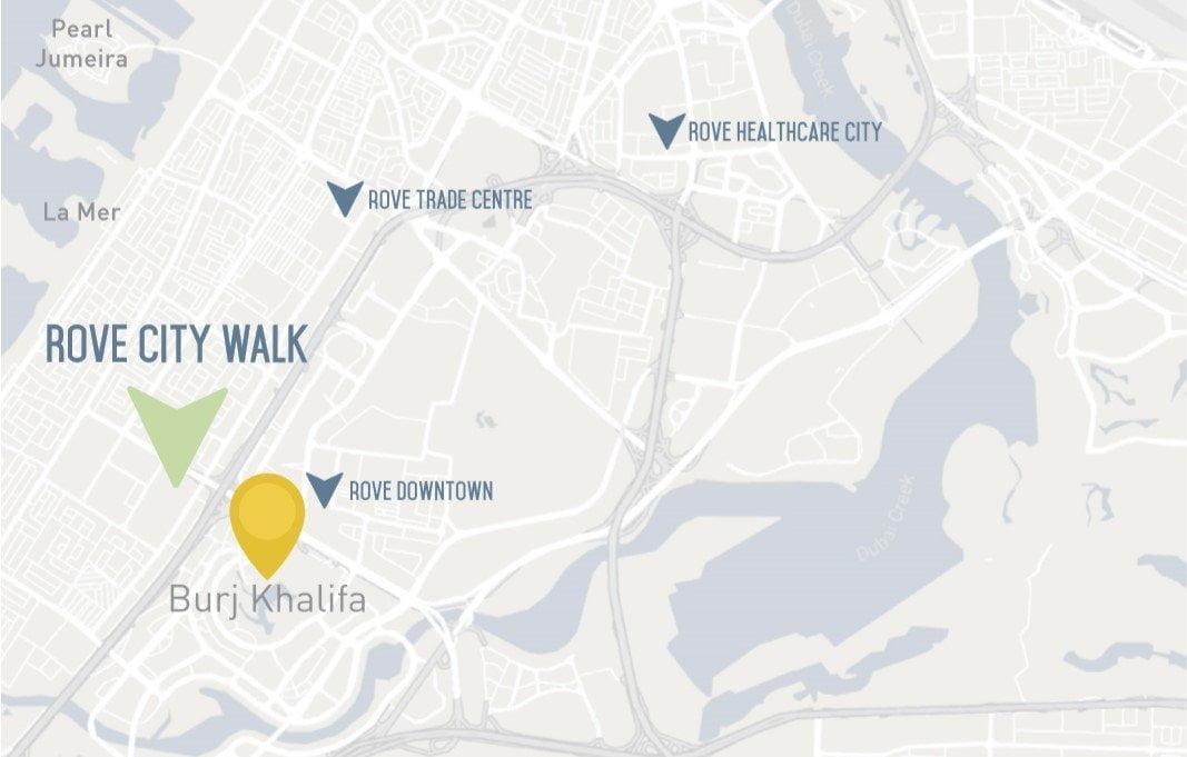 rove city walk location - Rove City Walk by Emaar