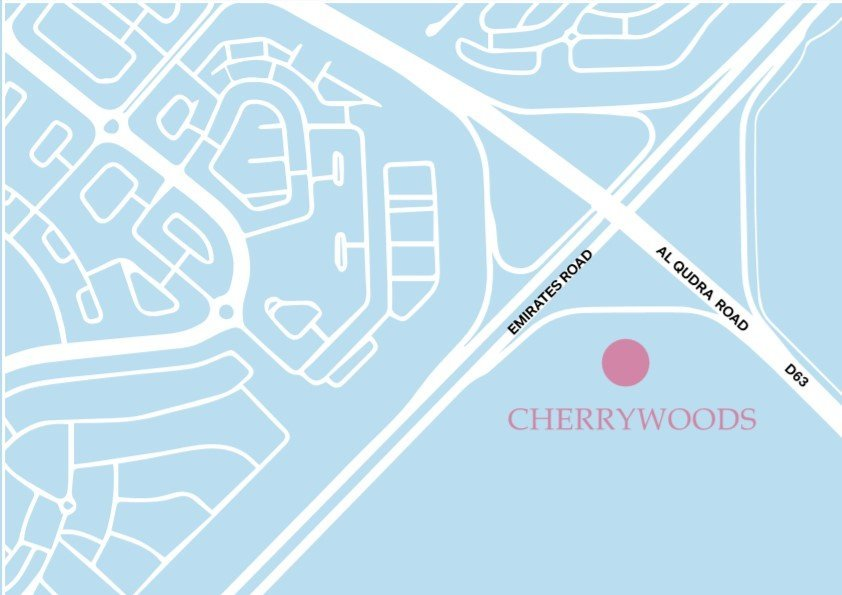 Cherrywoods Townhouses location map - Cherrywoods Townhouses by Meraas
