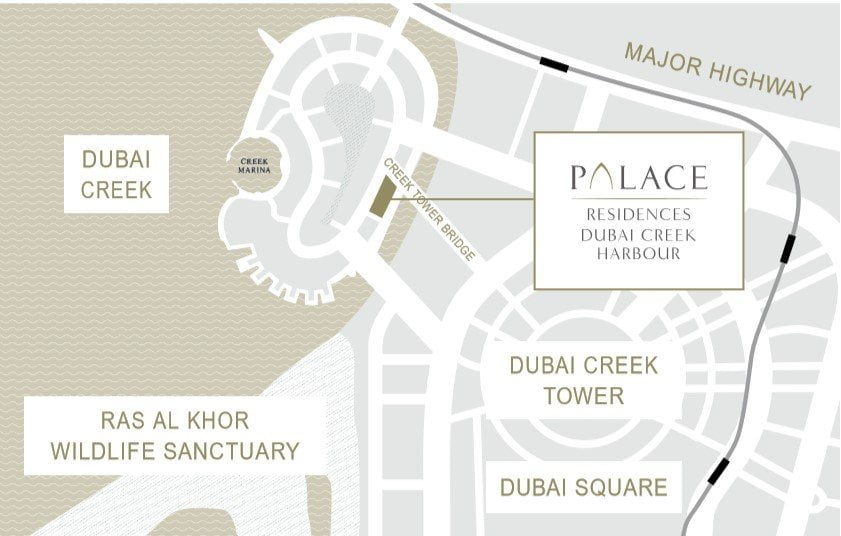 location map - Palace Residences by Address Hotels + Resorts