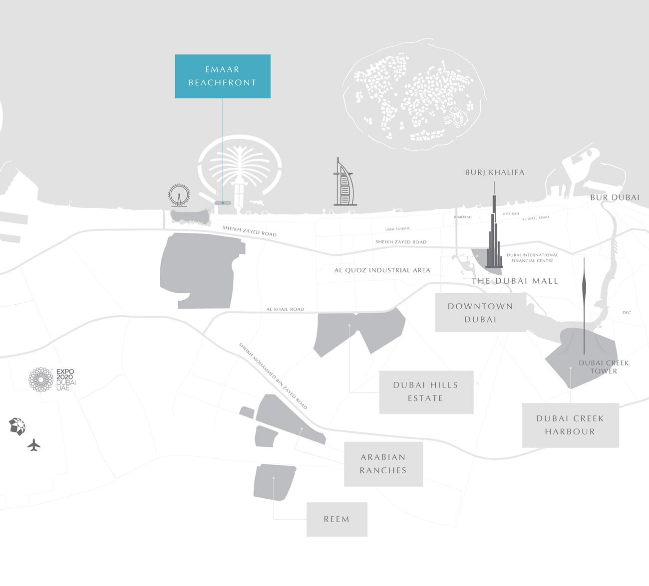 location at emaar beachfront - Elie Saab Branded Residences at Emaar Beachfront