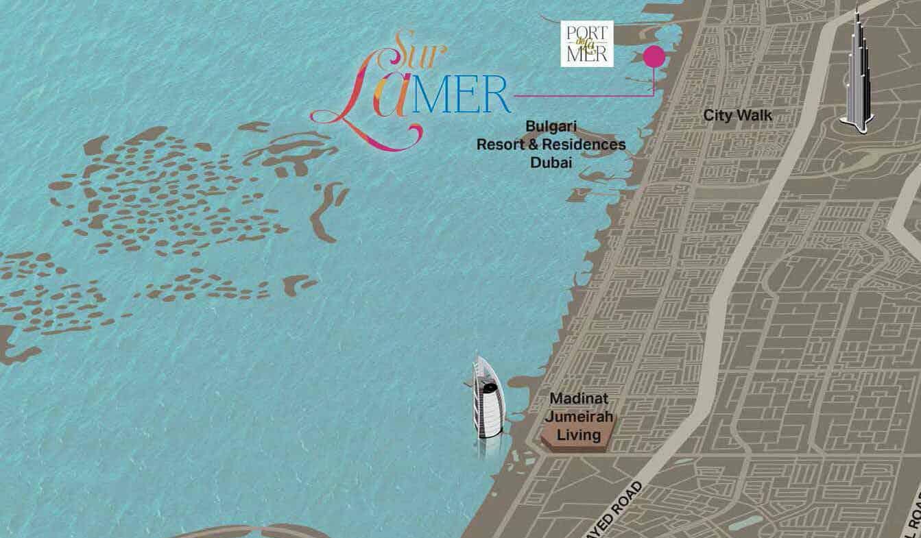 Sur La Mer locationmap - Sur La Mer Townhouse By Meraas at Jumeirah