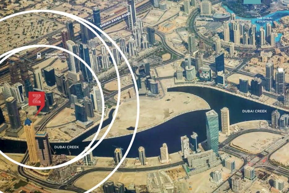 zada location map - Zada at Business Bay by Damac