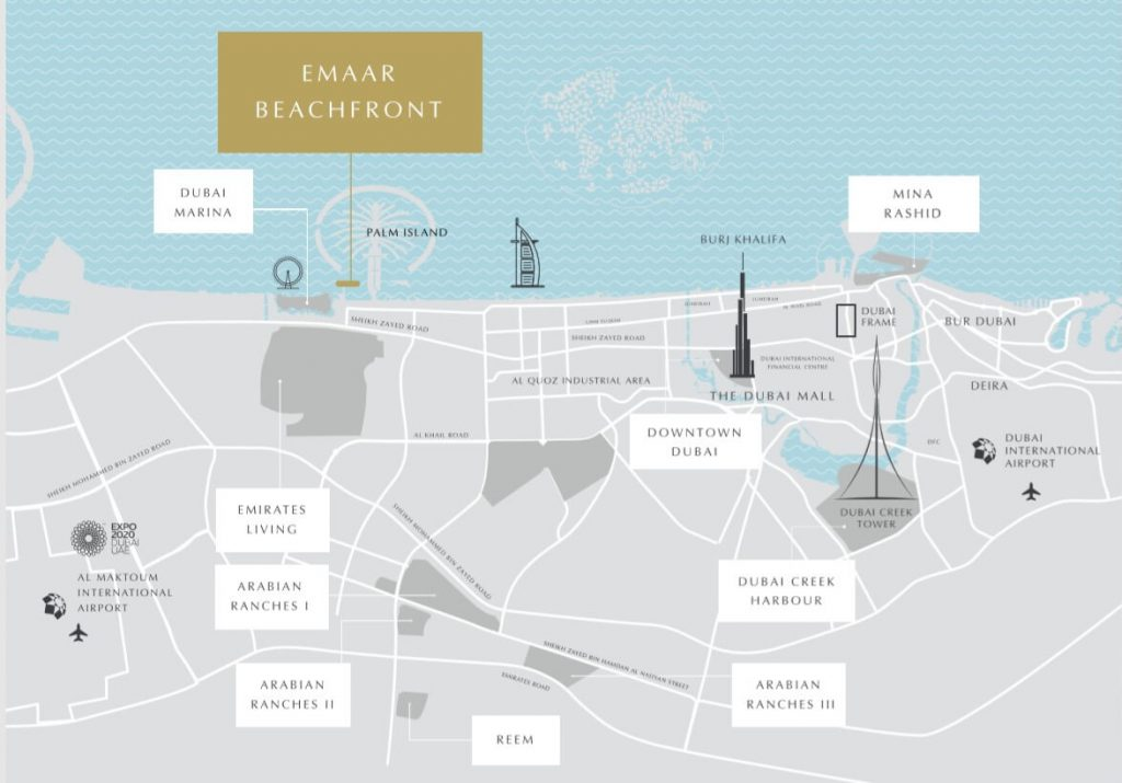 Emaar Holiday Homes location map