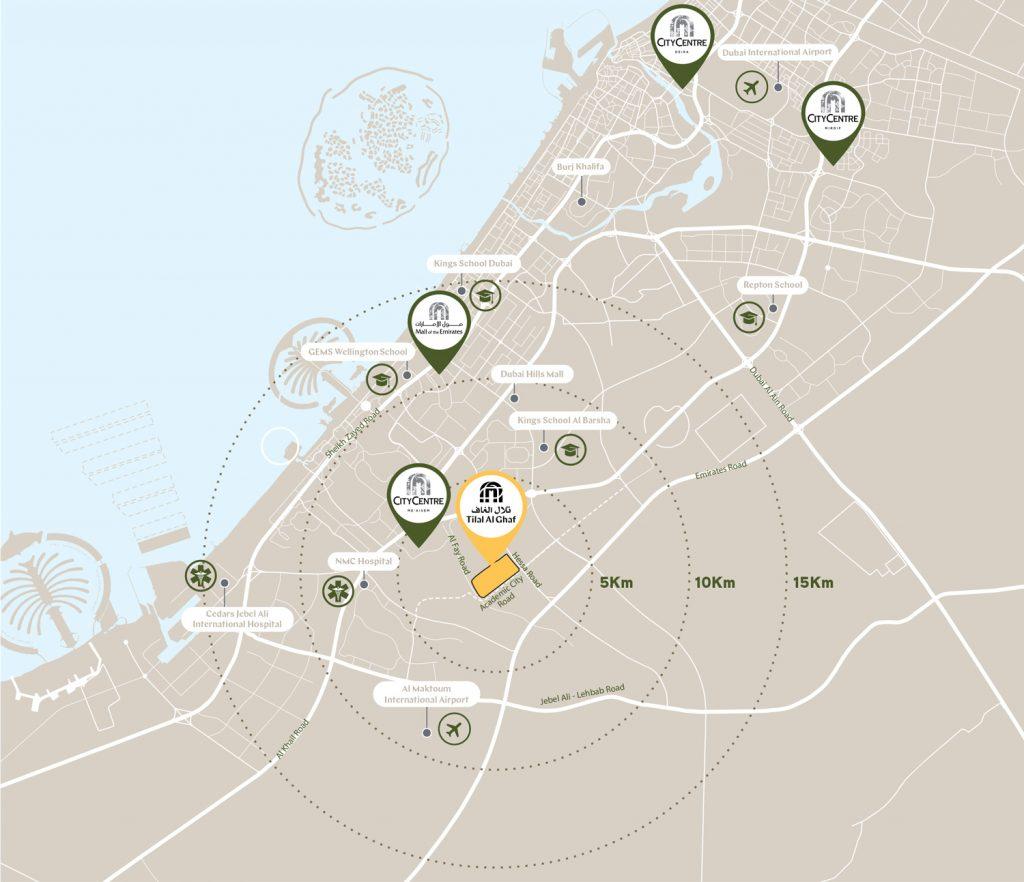 Elan Majid Al Futaim locationMap 1024x882 - Harmony at Tilal Al Ghaf