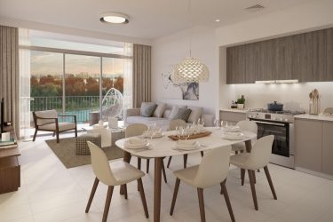 GREEN SQUARE 2BDR Living 375x250 - Green Square in Dubai Hills Estate