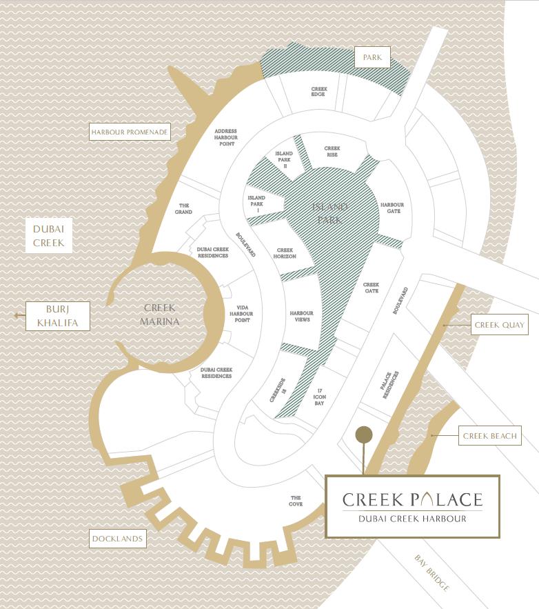 map - Creek Palace at Dubai Creek Harbour by Emaar
